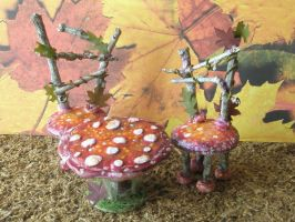mushroom furniture by grimdeva