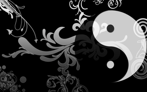 Yin Yang Wallpaper by J-DeV