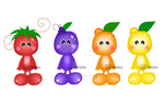 Original Fruits Characters by anwaarsaleh