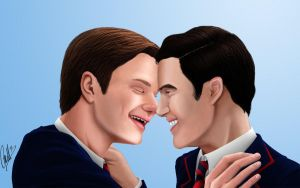 Glee: Klaine - Smile -colored- by cacell