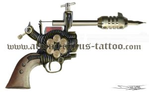 Tattoo machinegun by AtomiccircuS