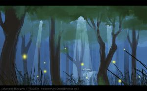 night time in the woods by Freiheit