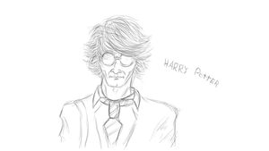 Harry Potter Sketch by Keisarinvaimo