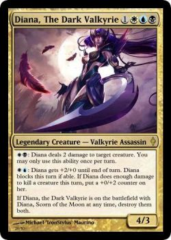 Diana, The Dark Valkyrie [M:TG Card] by ToxicTurd