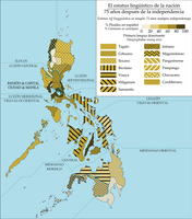 Linguistic Map of an Alternate Philippines by JJDXB