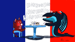 TrainToons #5: EvilCute and Whalerie being French by AntOnADog