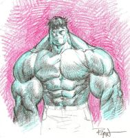 Crayon Hulk by RyanOttley