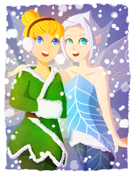 Tink and Peri by MoraSanders