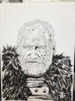 Mormont - Game of Thrones sketch C2E2 2013 by Dave-Acosta