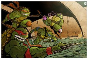 TMNT by thequickbrownfox