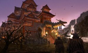 Dragon castle by guang2222
