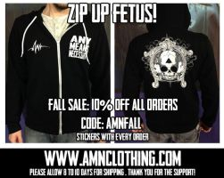 AMN fetal skull zip up hood by ShawnCoss