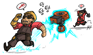 TF2+Pokemon: SAPPIN' MAH SENTRY by ky-nim