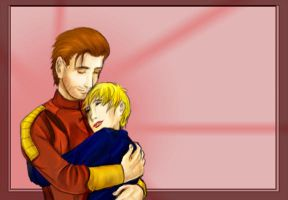 Carth and Revan Embrace by Umayma