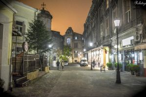 Old town in Bucharest by Rikitza