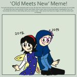 My Old Meets New Meme by twinscover