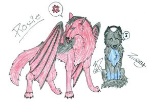 Roxie and Zoey- Contest Entry by Aura-BleedingHeart