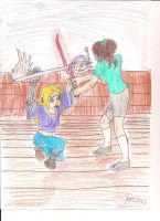 Rebekah and Rin sparing by Bellawho1