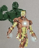 Hulk and Iron Man by workofaart