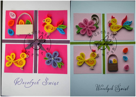 Quilling - card 55a-55b by Eti-chan
