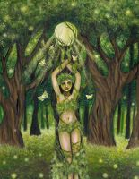 Lady Of the Forest, Dryad by FaerySayles