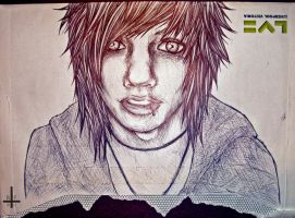 Andy Biersack on an envelope by Kagoe
