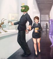 Agent Master Chief + Agent 21 by Speeh