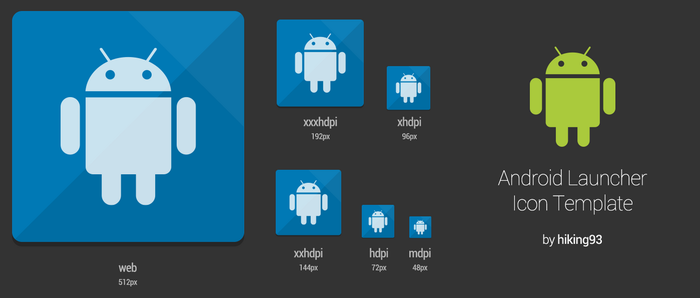 Android Launcher Icon Template by hiking93