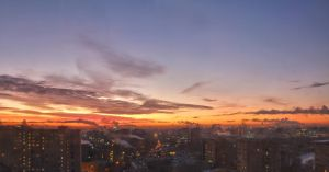 Moscow Sunrise by Salvarion