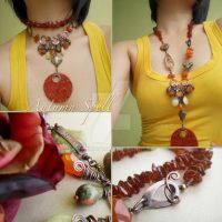 Autumn Spell Necklace by popnicute
