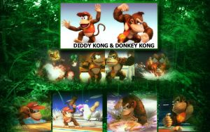 SSBB-Diddy n' Donkey Kong by An-D-Man333