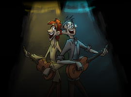 Guitar duet! =) by gnomKOLIN