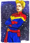 Captain Danvers by Jerantino