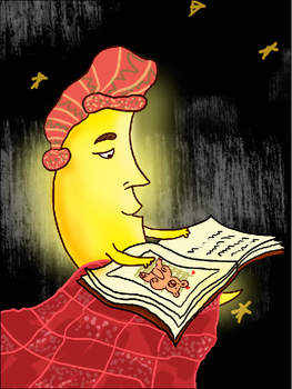 maninthemoon reading by selinsurgit
