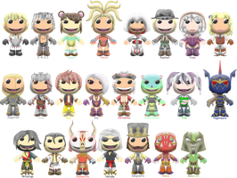 Soul Calibur V Sackboys by ChrisFClarke