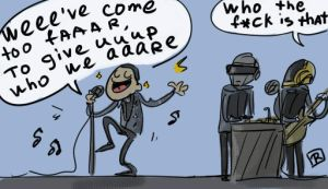 daft punk_get lucky by Ayej