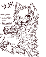 wow such fluff YCH AUCTIONCLOSED by BakaPup