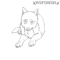 Wolf pup lineart - paint by inuyasha1086