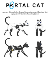 Portal Cat Anatomy by Chimajra