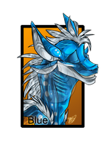 .:Commission:..:Blue:. by Dark-Spine-Dragon