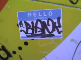 HELLO MY NAME IS BLANK by MFBlank
