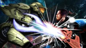 Master Chief vs Commander Shepard by Some-Bored-Guy