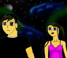 Me and Oc At Night by AmericanMuscleV8