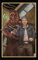Han and Chewie color by RamArtwork