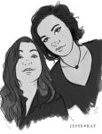 Custom Sketched Black and White Portraits 4 by JesseRayus