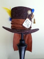 Mad Hatter top hat by PandoraLuv