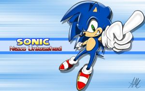 Sonic Finish Pose Wallpaper by Chakra-X