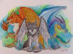 Rulers of the Sky by LabradoriteWolf