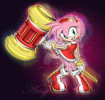 Amy Rose by MetalPandora
