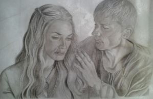 Game of Thrones: Cersei and Jaime Lannister by erikhart